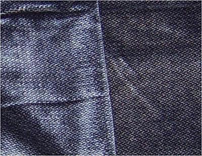 Upholstery Fabric With Nap yang ditunjukkan dengan kain di kedua-dua arah