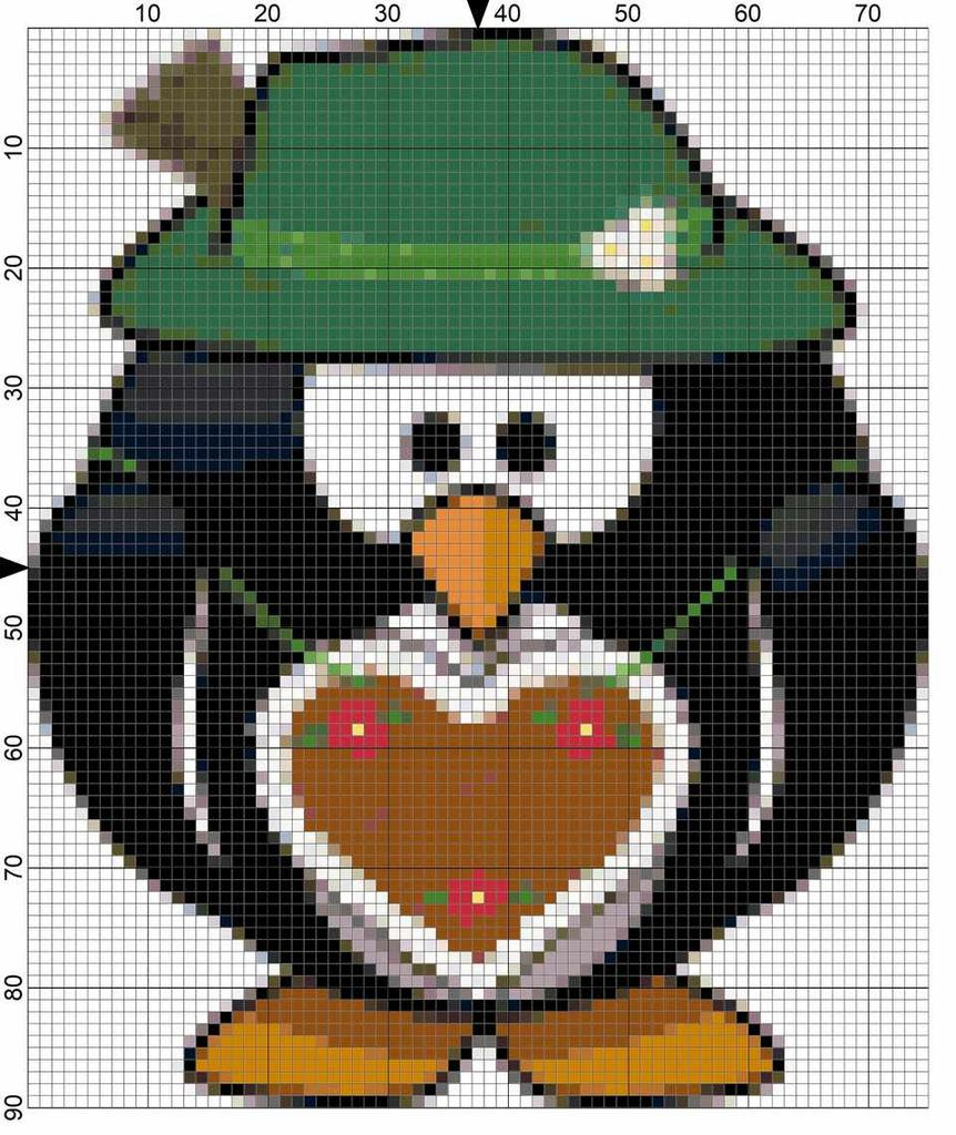 6 Penguin Christmas Needlepoint Designs For Your Tree